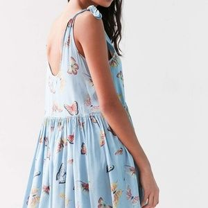 UO Kimchi Blue Babydoll Butterfly Self-Tie Dress